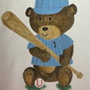 Benny Bear Baseball Art Print