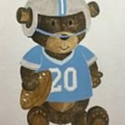 Benny Bear Football Art Print