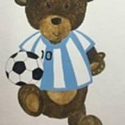 Benny Bear Soccer Art Print