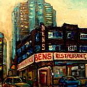 Bens Restaurant Deli Art Print