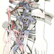 Bent Forks In Hand Art Print