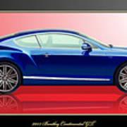 Bentley Continental GT with 3D Badge Art Print