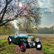Bentley On A Country Road Art Print