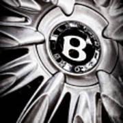 Bentley Wheel Emblem -0303ac Art Print