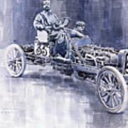 Benz 60hp Targa Florio Rennwagen 1907 Art Print