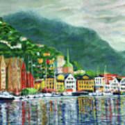 Bergen Harbor Art Print