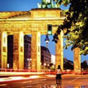 Berlin - Brandenburg Gate At Night Art Print