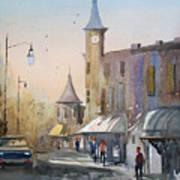 Berlin Clock Tower Art Print