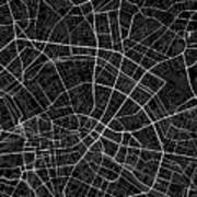 Berlin Germany Dark Map Art Print