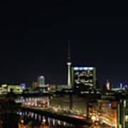 Berlin Night Landscape Art Print