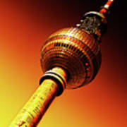 Berlin Television Tower - Berlin I Love You Art Print