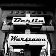 Berlin To Warsaw Frame 1  Art Print