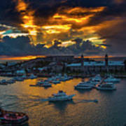 Bermuda Sunset Art Print