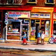 Bernard Barbershop Art Print
