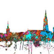 Berne Switzerland Skyline Art Print