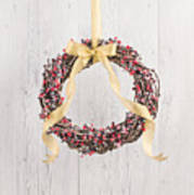 Berry Decorated Wreath Art Print