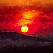 Beskidy Sunset Art Print