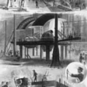 Bessemer Steel Manufacture. Six Art Print by Everett
