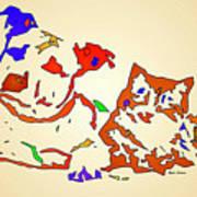 Best Buddies. Pet Series Art Print