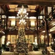 Best Western Plus Windsor Hotel Lobby - Christmas Art Print