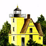 Bete Gris Lighthouse Art Print