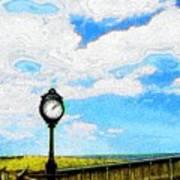 Bethany Beach Clock Art Print