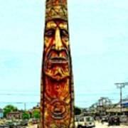 Bethany Beach Totem Art Print