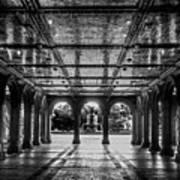 Bethesda Terrace Arcade 2 - Bw Art Print
