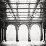 Bethesda Terrace In Black And White Art Print