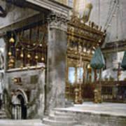 Bethlehem - Inside Nativity Church 1890 Art Print