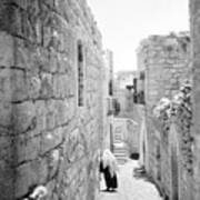 Bethlehem - Old Woman Walking 1933 Art Print