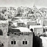 Bethlehem Old Town Art Print by Munir Alawi