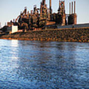 Bethlehem Steel Water's Edge Art Print