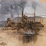 Bethlehem Steel Works In May 1881 Art Print