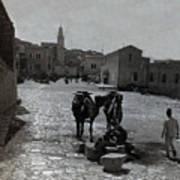 Bethlehem Street Scene 1911 Art Print