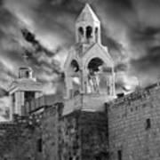 Bethlehem With Cloudy Sky Art Print
