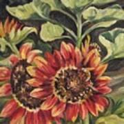 Betsy's Sunflowers Art Print