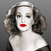 Bette Davis Draw Art Print