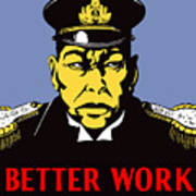 Better Work To Win - Ww2 Art Print