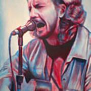 Betterman Eddie Vedder Art Print by Derek Donnelly