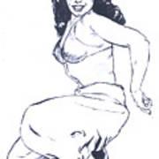 Bettie Page Harem Girl Art Print