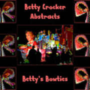 Betty Crocker's Abstracts - Betty's Bowties Art Print