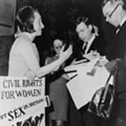 Betty Friedan, President Art Print