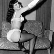 Betty Page Pin Up Girl 1950 Art Print