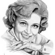 Betty White Art Print