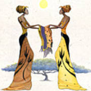 Between Friends Art Print by Albert Fennell