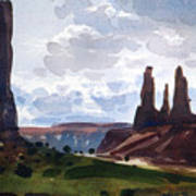 Between The Buttes Art Print