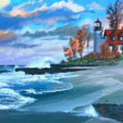 Betzie Lighthouse Art Print