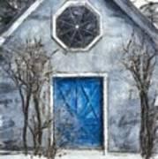 Beyond The Blue Door Pencil Art Print