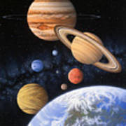 Beyond The Home Planet Art Print by Lynette Cook